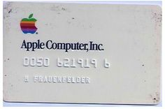 Back when Apple was starting   #apple #creditcard #travel #unique