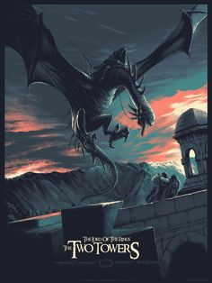 """'The Lord Of The Rings: The Two Towers' (Regular Edition) by Juan Esteba… """"Der Herr der Ringe: Die zwei Türme"""" (Regular Edition) von Juan Esteban Rodriguez Jrr Tolkien, Movie Poster Art, Film Posters, Poster Series, Lord Of Rings, The Lord Of The Rings, Volcan Eruption, O Hobbit, The Two Towers"""