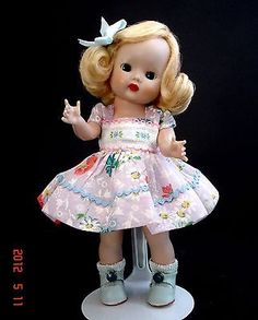 "1953 Nancy Ann Storybook Strung Muffie Doll (8"" Hard Plastic)"