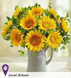 Pitcher Full of Sunflowers from 1-800-FLOWERS.COM