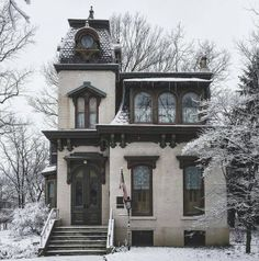 House Old Victorian Interior Design 37 Ideas Victorian Architecture, Beautiful Architecture, Beautiful Buildings, Beautiful Homes, Architecture Design, Benton House, Casa Retro, This Old House, Historic Homes