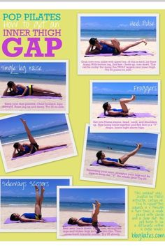 Inner thigh gap work out and my ab routine yesterday!!
