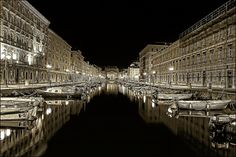 ....Symmetry - (Ponterosso - Trieste by night) | Flickr - Photo Sharing!