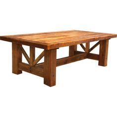 rustic farmhouse dining table | Deep Creek Farmhouse Trestle Dining Table-SR