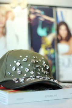 DIY: J.Crew Jeweled Baseball Cap