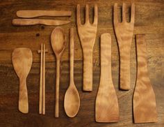 """""""Make a bunch of kitchen utensils from a block of wood"""""""