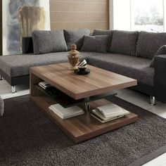 Amazing 48 Pretty Coffee Table Design Ideas To Try Asap Wooden Coffe Table, Coffe Table Design, Wooden Coffee Table Designs, Cool Coffee Tables, Decorating Coffee Tables, Modern Coffee Tables, Wooden Tables, Table Furniture, Luxury Furniture