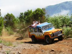 "Southeast – (Santo da Serra) – Monday afternoon Garajau – Santa Cruz – Lamaceiros – Santo da Serra – Machico Open 4X4 tours, otherwise known as ""Jeep Safari"", have been planned to show you the most beautiful parts of Madeira Islands, using the old roads and some forest roads, which are rarely visited by tourists #jeep #tour #halfday #southeast #santodaserra #madeira #island #best"