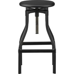 """$229 Turner Black Barstool from Crate (H24""""–30"""") I also like the Gunmetal color."""