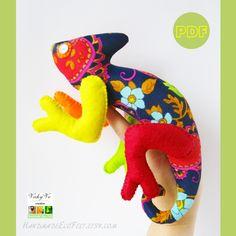 Chameleon toy PDF sewing pattern Felt Iguana tutorial Stuffed reptile veiled instructions Gift lizard art Plush animal dinosaur DIY for kid #Chameleon #Chameleontoy #PDFsewingpattern #Iguana #tutorial #reptile #lizard #animal #dinosaur #DIYforkid