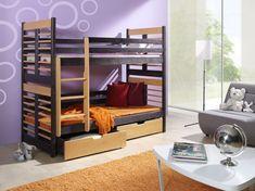 Pat etajat din lemn masiv de pin pentru copii Augustyn #homedecor #interiordesign #inspiration #bedroom #bedroomdecor Beds For Sale, Furniture Assembly, King Beds, Storage Drawers, Kids Furniture, Mattress, Interior Design, Cheap Beds, Home Decor