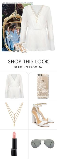 """""""Last day at Revolve house with Eleanor"""" by perfectharry ❤ liked on Polyvore featuring WithChic, Casetify, Forever 21, Schutz, MAC Cosmetics and Ray-Ban"""
