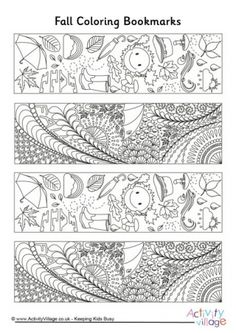 "Fall Doodle Colouring Bookmarks free | Join my grown-up coloring fb group: ""I Like to Color! How 'Bout You?"" https://m.facebook.com/groups/1639475759652439/?ref=ts&fref=ts"