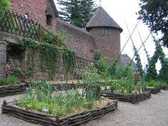 jardin médiéval, Le château du Haut-Koenigsbourg, Alsace