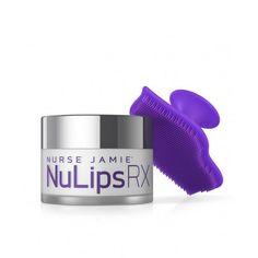 NuLips RX Moisturizing Lip Balm + Exfoliating Lip Brush Exfoliating Face Scrub, Exfoliate Face, Exfoliating Products, Exfoliating Gloves, Natural Lip Balm, Soft Lips, Dry Lips, Lip Brush, Lip Moisturizer