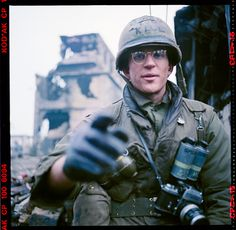 A self-portrait/exposure test made by Matthew Modine in November 1985 on the set of Full Metal Jacket