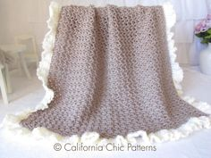 Crochet blanket PATTERN 91  Chocolate Dream by CaliChicPatterns, $4.50