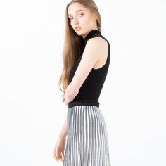 Modern Citizen  |  Sasha Ribbed Mock-Neck Sweater (Black) $31