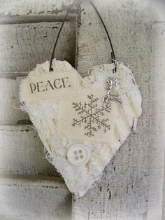Handmade Christmas Ornament Christmas Mixed Media by QueenBe