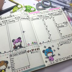 Image result for using stamps in bullet journal