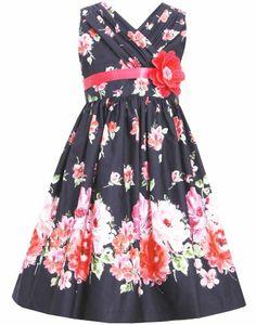 $40.60 Black Multicolor Shirred Crossover Bold Floral Border Print BK4MH, Black, Bonnie Jean Tween Girls 7-16 Social Dress Bonnie Jean,http://www.amazon.com/dp/B00KI3VBMK/ref=cm_sw_r_pi_dp_bXNHtb1K4MGP1305