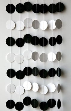 boy birthday parties Black and white circle garland - Birthday decoration, Men birthday party, Boy's birthday party, Wedding garland, Black white wedding wedding Looks great on or Panda Birthday Party, Panda Party, Man Birthday, Boy Birthday Parties, Birthday Ideas, Black And White Party Decorations, Black White Parties, Garland Wedding, Party Wedding
