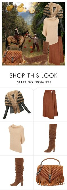 """All Things Grow With Love"" by lucky-ruby ❤ liked on Polyvore featuring TIBI, Joseph, Manolo Blahnik, Yves Saint Laurent, Fall, brown and couples"