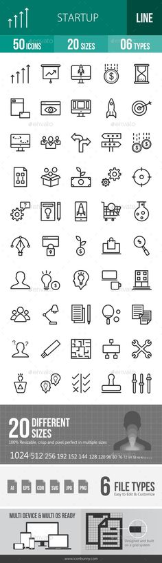 Startup Line Icons. Download here: https://graphicriver.net/item/startup-line-icons/16791669?ref=ksioks