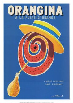 Orangina vintage poster by Villemot
