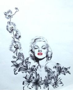 marilyn monroe by Sashka91 | This image first pinned to Marilyn Monroe Art board, here: http://pinterest.com/fairbanksgrafix/marilyn-monroe-art/ || #Art #MarilynMonroe