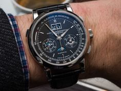 Hands-on review, original photos, & video from SIHH 2016 of the A. Lange & Söhne Datograph Perpetual Tourbillon watch with price, specs, & analysis.