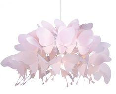 lampa wisząca 1 x 60W E27 motyle różowa zwis