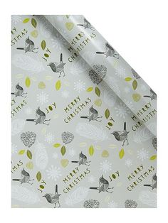 Enchanted forest bird wrapping paper