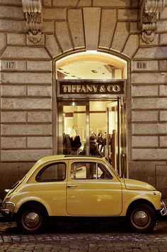 fiat 500 at Tiffany's