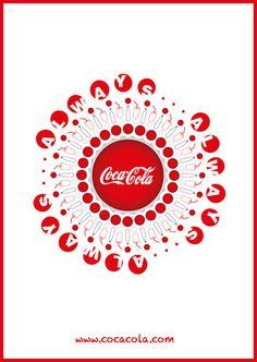 diseño cartel geométrico coca cola