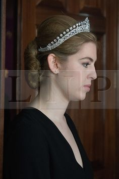 © London News Pictures. 03/04/15. London, UK. A diamond tiara made by Cartier in the 1930's from the estate of Mary, Duchess of Roxburghe is part of the magnificient jewels sale at Sotheby's, central London. Photo credit: Laura Lean/LNP