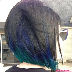 blue green and black hair color