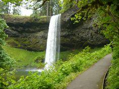 Silver Creek Falls State Park, Oregon. South Falls.