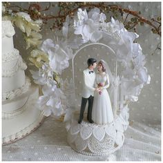 Vintage Wilton Wedding Cake Topper by rosepetalsandblooms on Etsy, $20.00