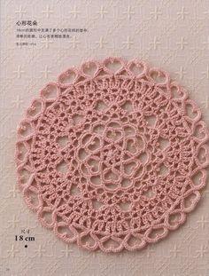 gorgeous heart doily..Free,downloadable diagram pattern!!