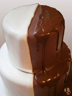 Make me a cake: Half white, half chocolate wedding cake tutorial
