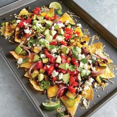 Two-Cheese Veggie Nachos | MyRecipes.com