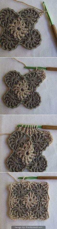 crochet - cool wheels granny square from crochet dad ~☆~ Teresa Restegui http://www.pinterest.com/teretegui/ ~☆~