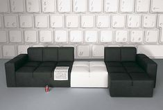 Keyboard wall + modular furniture #livingroom #sofa
