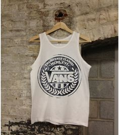 Vans Logo Tank Top Shirt Unisex Gray Vans Off the Wall Skateboarding Trendy Outfits, Summer Outfits, Summer Clothes, Tank Top Shirt, Tank Tops, Tanks, Young Money, Vans Logo, Vans Off The Wall