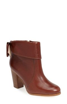 Free shipping and returns on kate spade new york 'lanise' leather boot (Women) at Nordstrom.com. An oversized bow puts an unexpectedly pretty finishing touch on a sophisticated cuffed boot crafted from glazed goatskin leather.