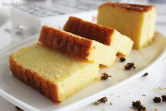 A simple and classic Nonya recipe for a very rich, moist and decadent butter cake with a light hint of vanilla flavour. (Adapted from source: 'The Best of Singapore Cooking' by Mrs Leong Yee Soo). Rich Butter Cake Recipe, Butter Cakes, Lemon Yogurt Cake, Cake Recipes, Dessert Recipes, Rich Cake, Best Butter, Baking Tins, Baking Cakes