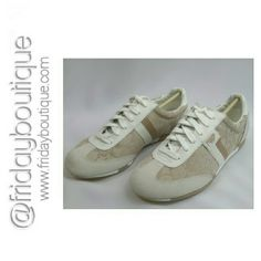 New in Box Coach Shoes Light Khaki and white Coach Shoes Sneakers