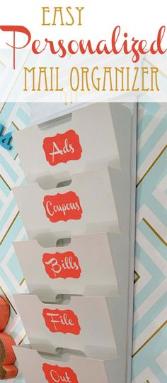 easy personalized mail organizer: make custom stencils with painters tape on hertoolbelt.com