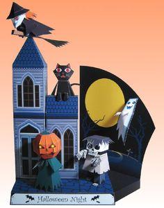 Halloween Special - Halloween Night Diorama Paper Model by T. Ichiyama